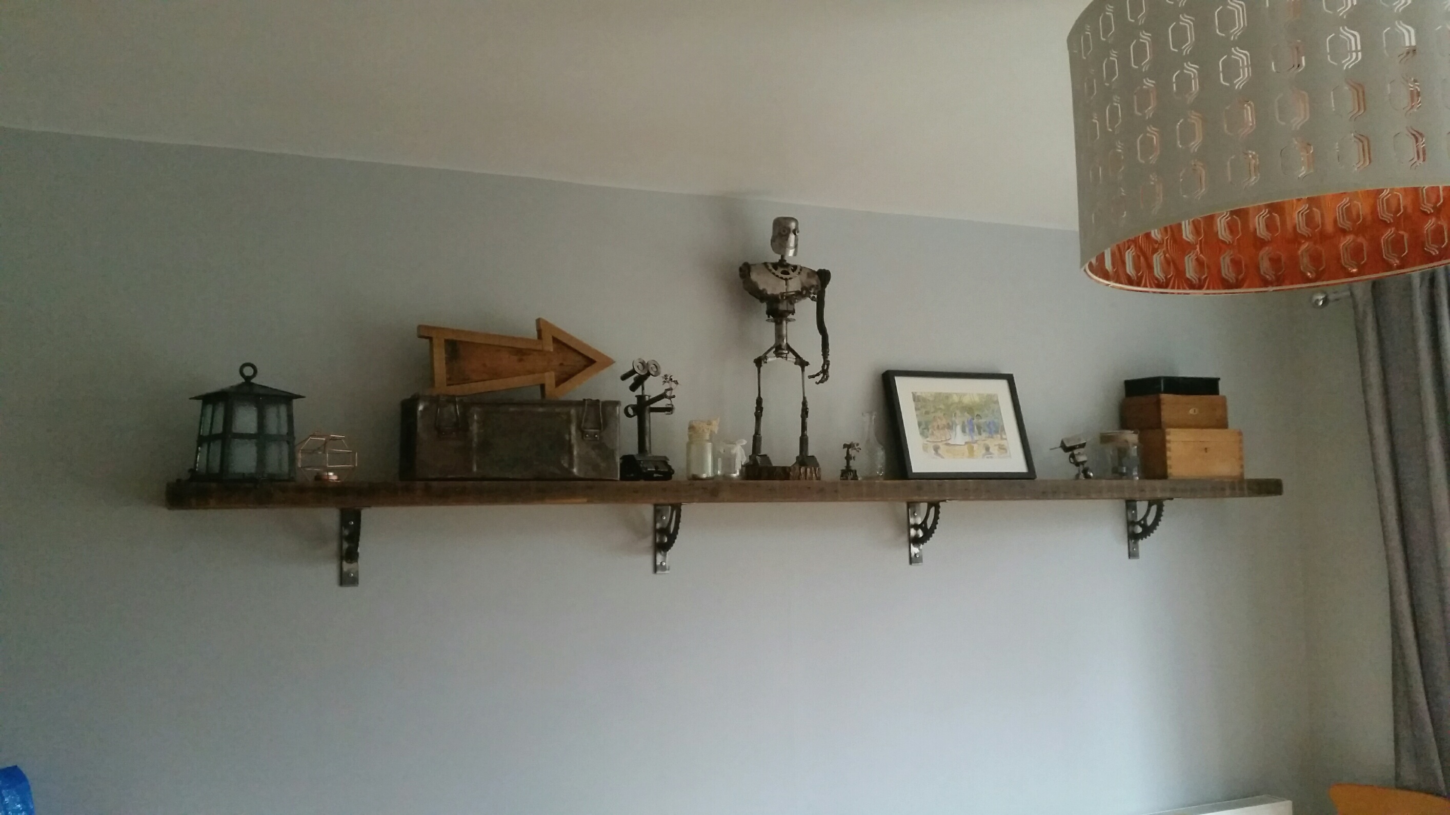 Picture of Mounting the Brackets and Shelf