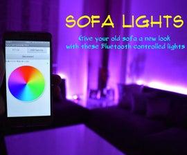 Bluetooth controlled Sofa lights