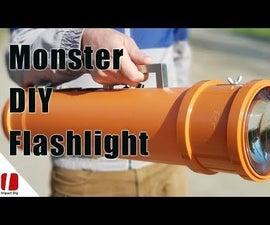 Monster 100w LED Flashlight 10,000 Lumens With Huge Lenses