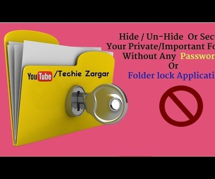 How to Secure a Folder Without Password