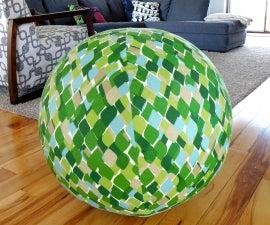 DIY Exercise Ball Cover