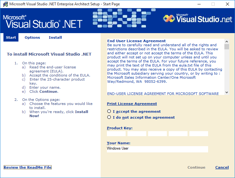 Picture of Install Visual Studio .NET 2002 in 64-bit Windows