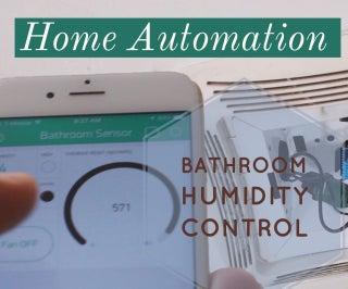 WiFi Bathroom Humidity Sensor W/Fan Control, App & Automation