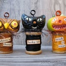 Halloween Place Card Holder Trio