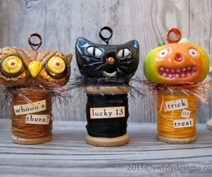 Halloween Place Card Holder Trio