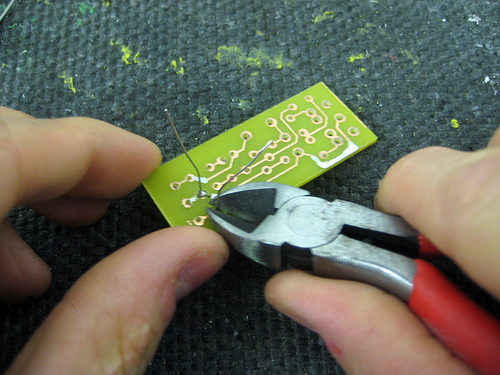 Picture of Solder on the Resistors and Capacitors