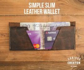 Simple Slim Leather Wallet