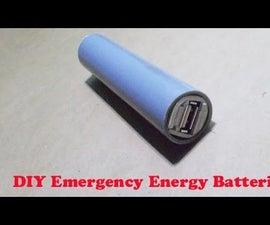 Homemade Emergency Energy Batteries USB Power Supply