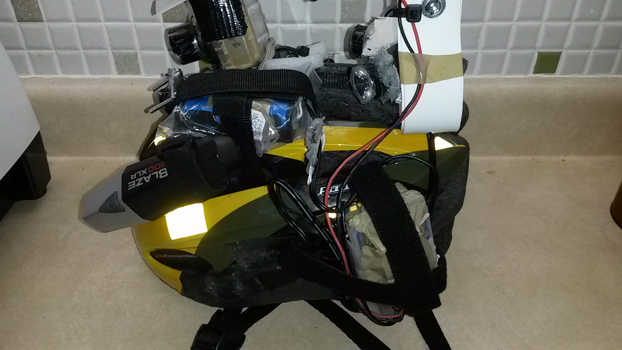 Picture of Light Installed on the Helmet