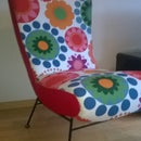 New cover up for vintage armchair