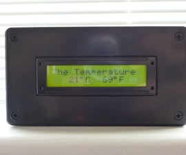PICAXE - DS18B20 temperature sensor to LCD