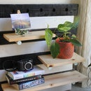 DIY Wooden Pegboard Shelf
