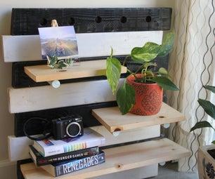 DIY Wooden Pegboard Shelf