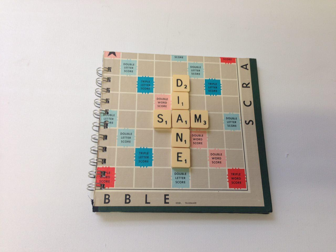 Picture of Scrabble Board Wedding Guest Book