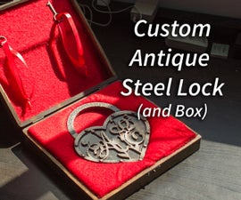 Custom Antique Steel Lock and Wood Box