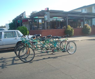 How to Make the Bus Bike, a 9 Person, 6 Wheeled Bicycle.