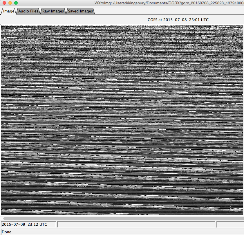 Picture of WXtoImg - Getting an Image From the Recorded Transmission