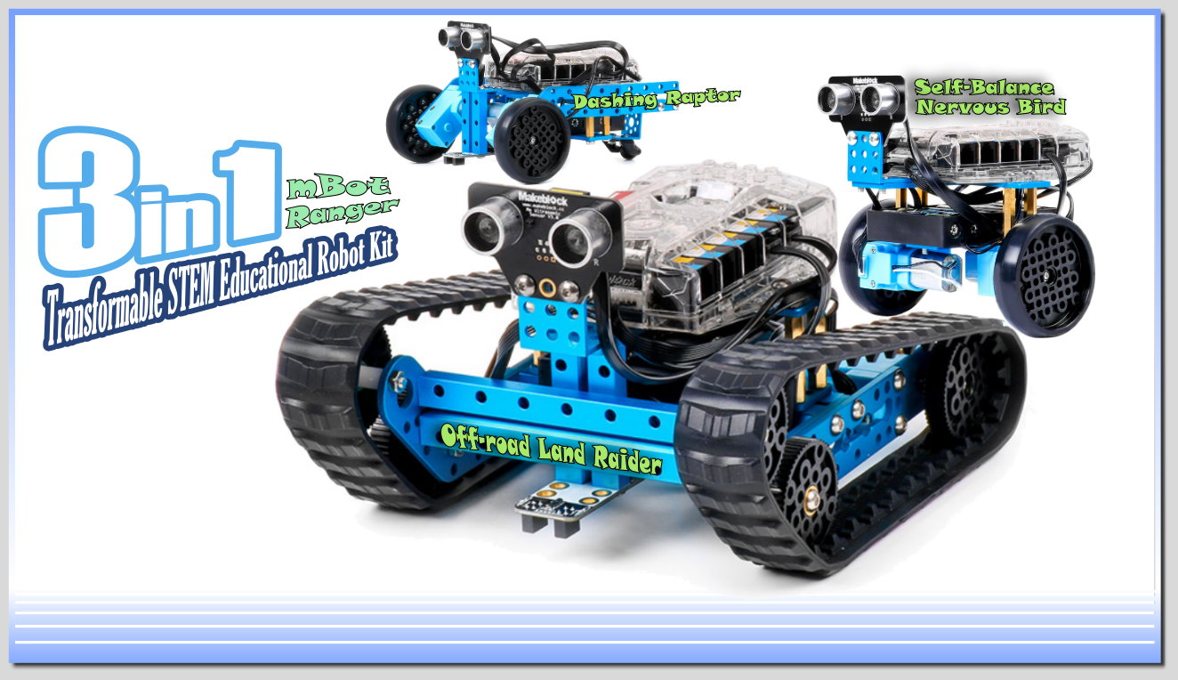 Picture of Learning, Experience and Review the Makeblock 3 in 1 MBot Ranger Robot Kit
