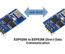 ESP8266 Direct Data Communication