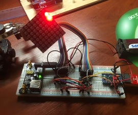 Arduino 8*8 Led Matrix driver with 2* 74HC595 shift registers