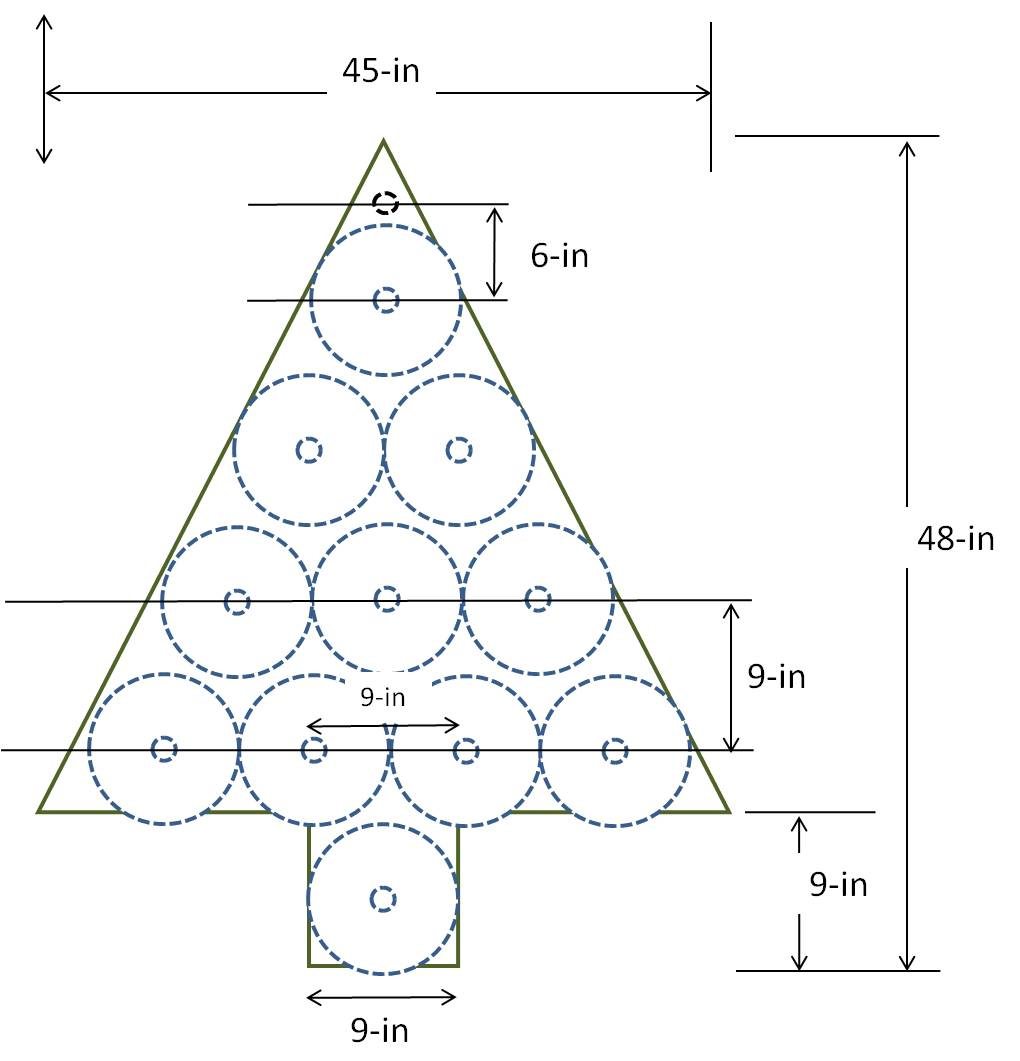 Picture of Construct a Christmas Tree-Shaped  Base Board