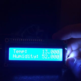 Remote Wi-Fi DHT11 Temperature and Humidity I2C 2 X 16 LCD Display With Two ESP8266 and Visuino