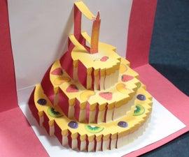 Birthday Cake Pop Up Card (Happy Birthday Kirigami)   Free Template!