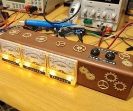 Steampunk Voltmeter Clock