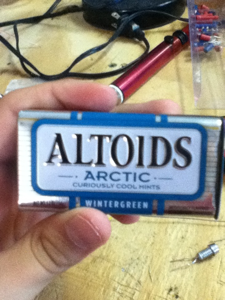 Picture of The Magnetically Switched Altoids LED Flashlight!