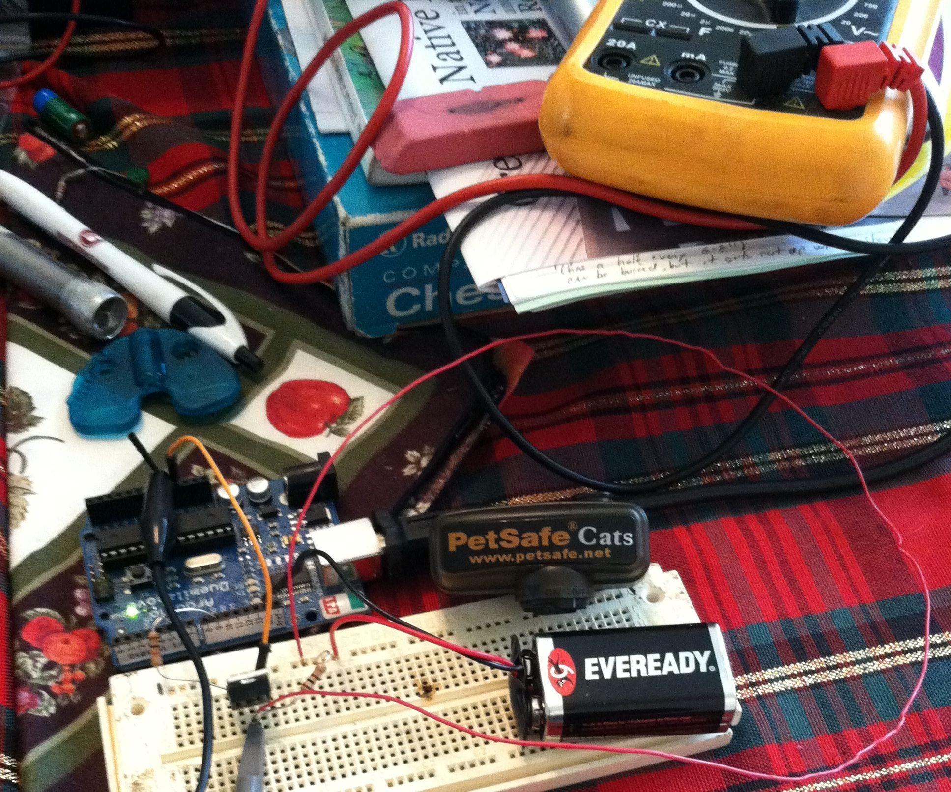 Arduino Petsafe Cat Barrier Wiring Diagram