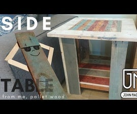 Small Colorful Pallet Wood Table