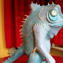 Lizard Man Papier Mache Figure