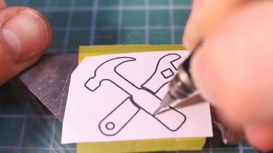 Drawing a Picture on Metal