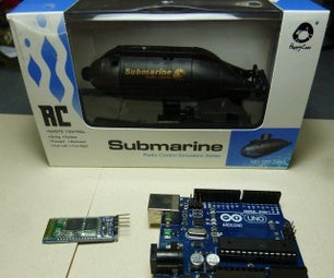 RC Submarine Hack - Android Controller (Arduino, Android, Submarine, Bluetooth)