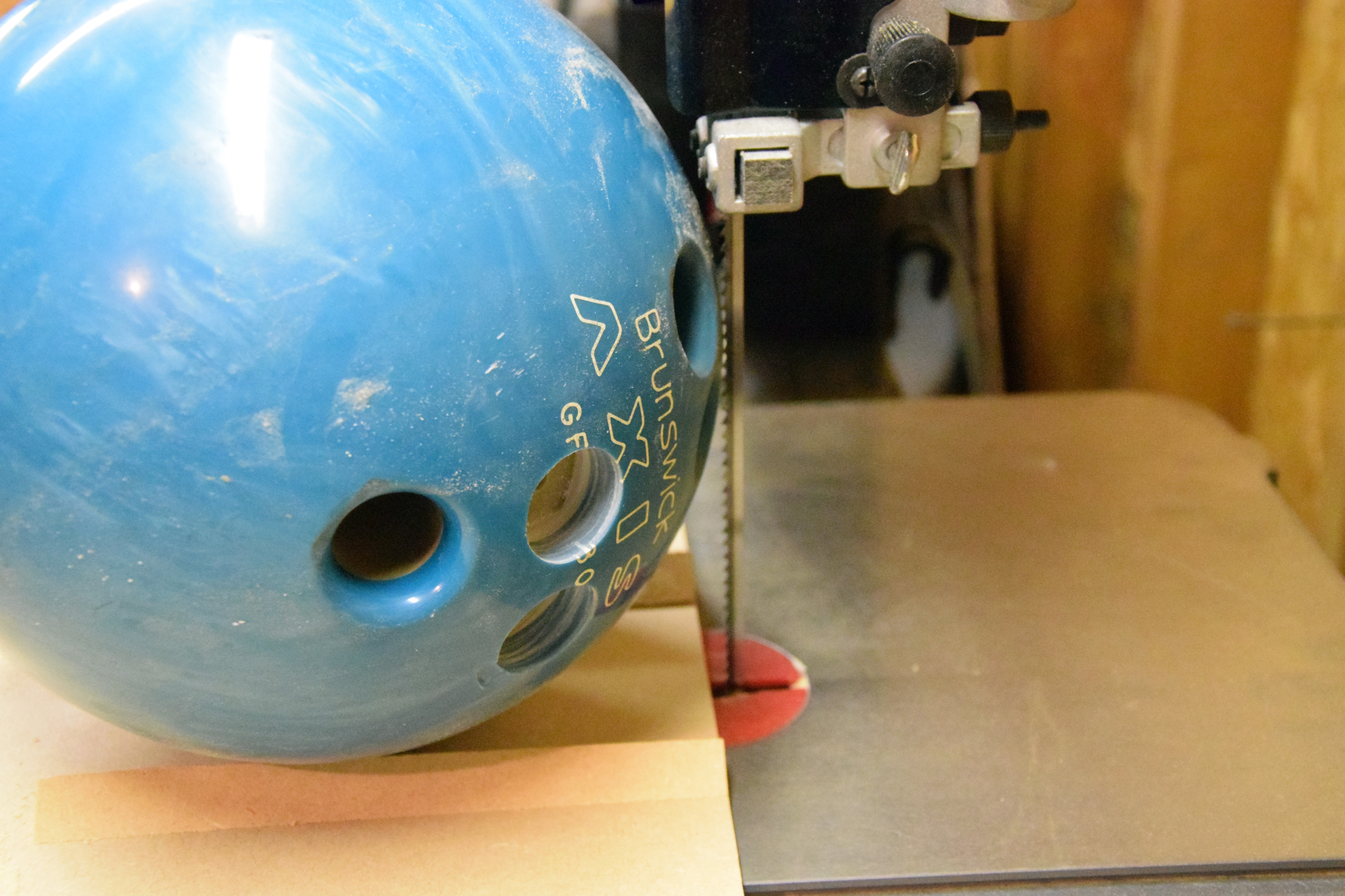 Picture of Cut Bowling Ball in Half
