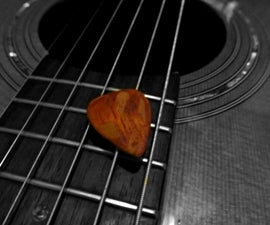 Making a Wooden Guitar pick