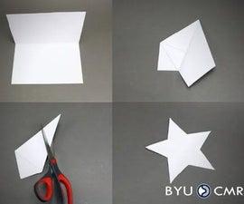 One Cut Origami Star