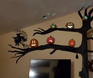 Spooky Neopixel Halloween Tree