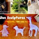 2D Glue Sculptures!