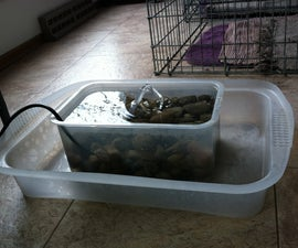 Dog Cat recycling water bowl
