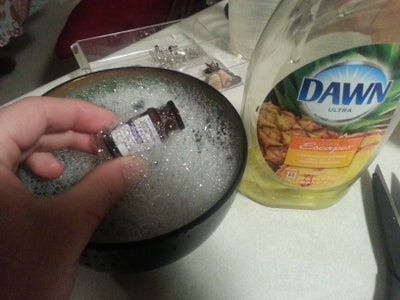 Washing Out the Vial and Getting the Label Off