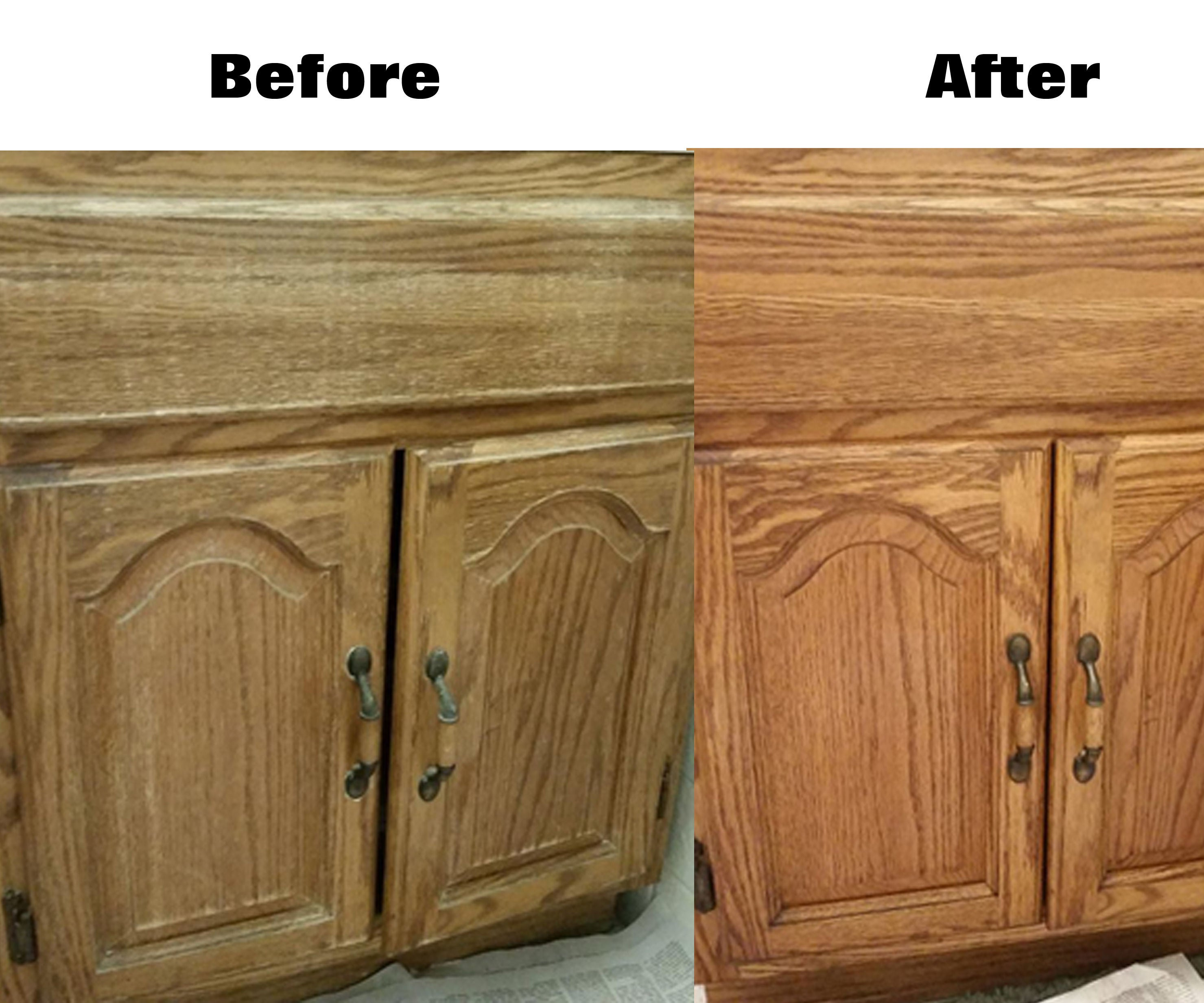 Easily Renew Wood Cabinets Without Actually Refinishing 6 Steps