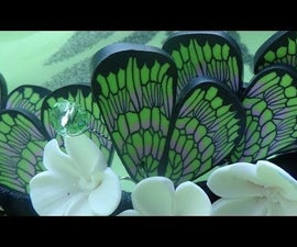 Cane Butterfly Wings. Polymer Clay Tutorial