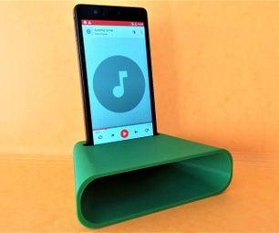 3D Printed Phone Amplifier Spicker