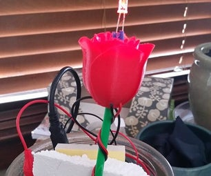 3-D Printed Rose N'light