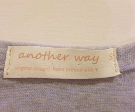 DIY: Make Your Own Clothing Labels