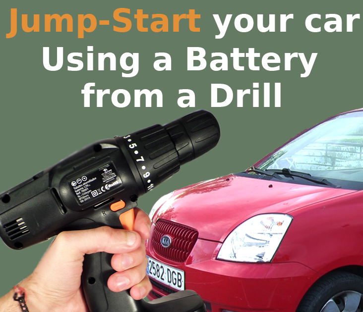Picture of Jump-Start Your Car With Drill's Battery