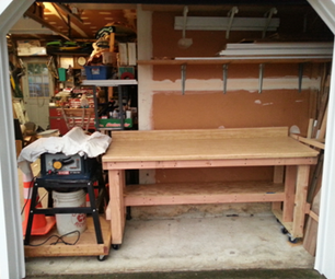 Upcycle Countertop into Workbench