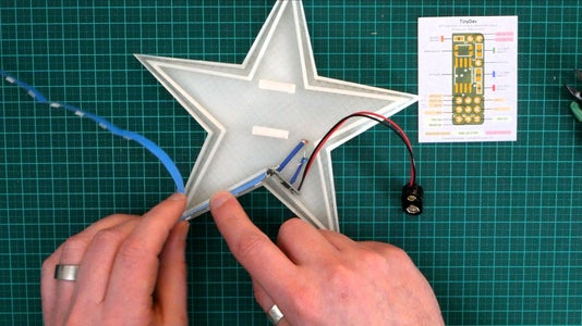 Step 6 - Insert the RGB Strip Into the Star