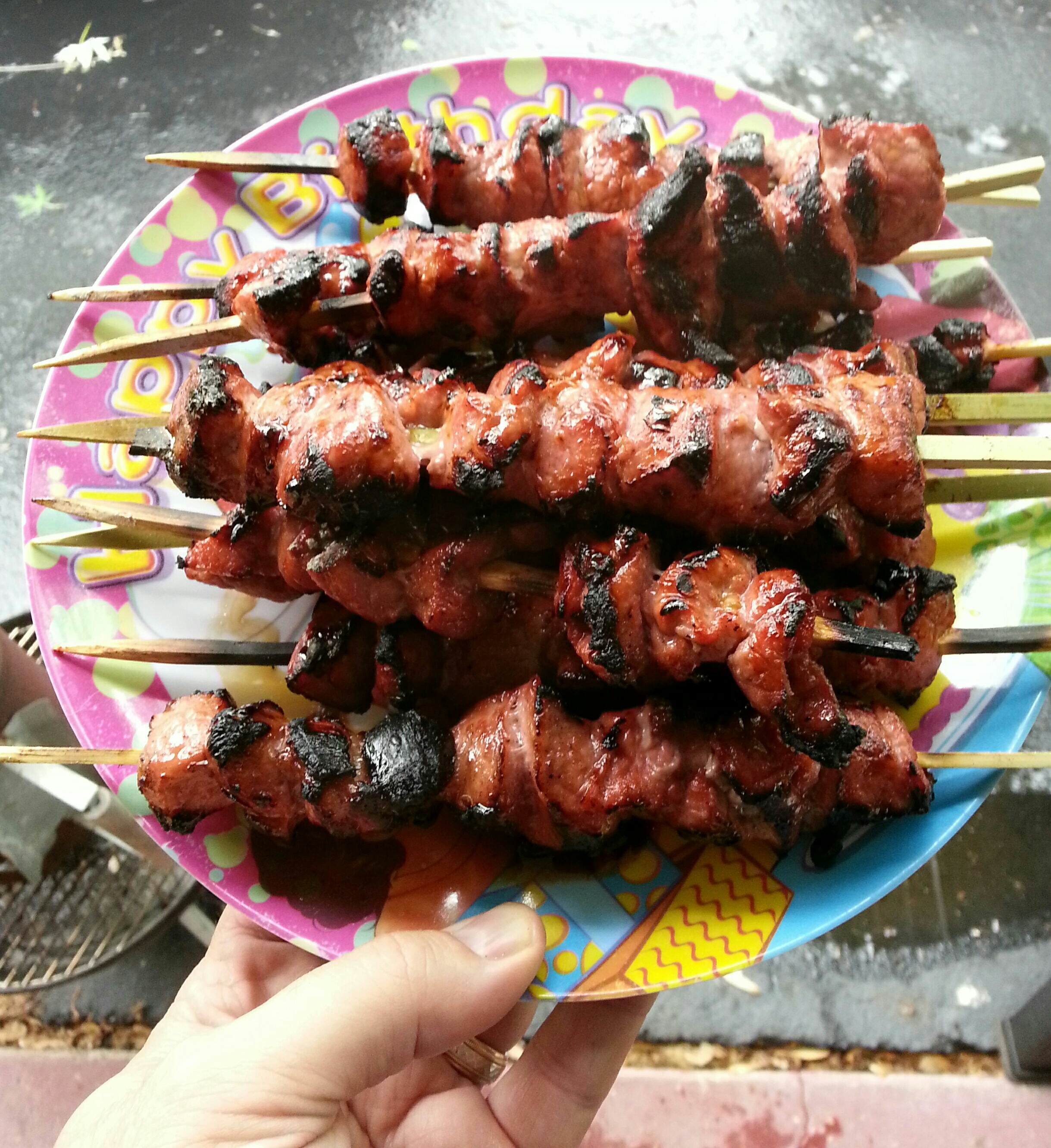 Picture of Chinese BBQ Pork Kabobs